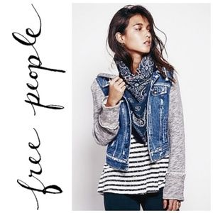 Free People distressed blue denim jean Jacket